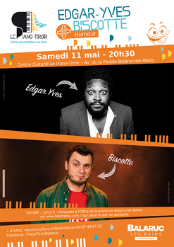 Spectacle Humour Edgar Yves + Biscotte